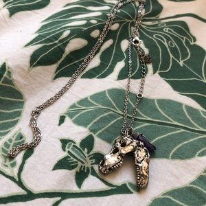 Silver T-Rex Necklace